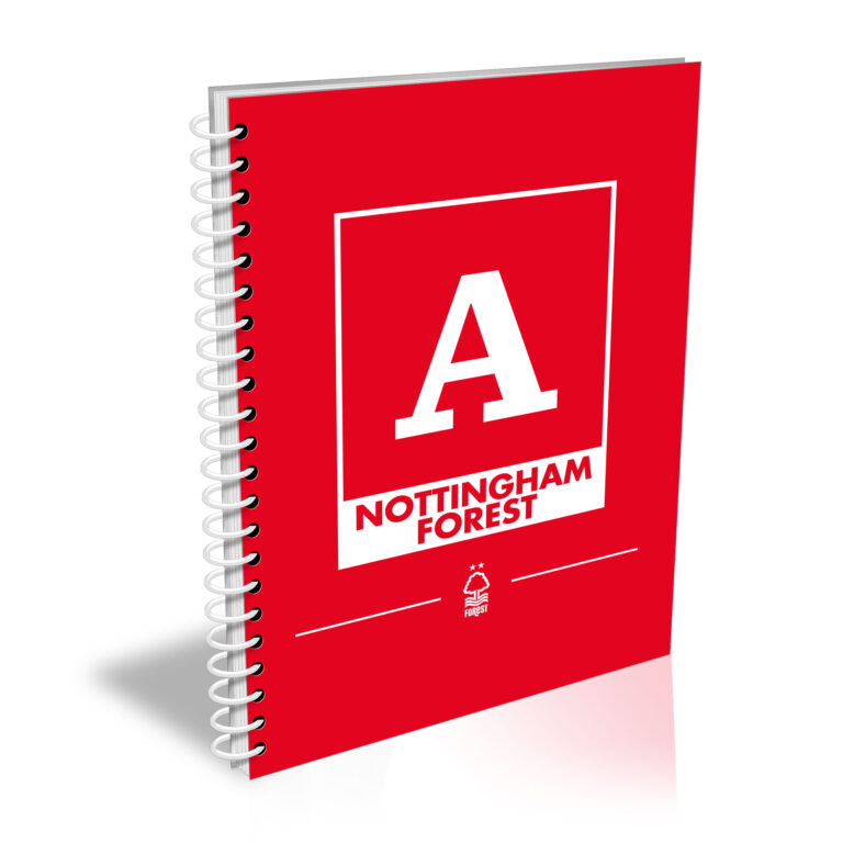 Personalised Nottingham Forest FC A5 Notepad