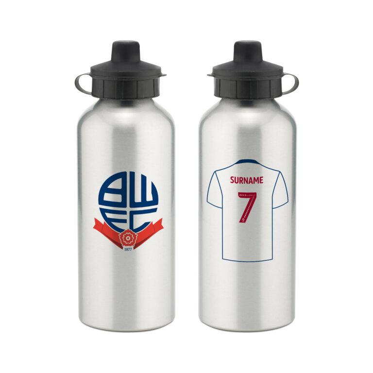 Personalised Bolton Wanderers FC Aluminium Water Bottle