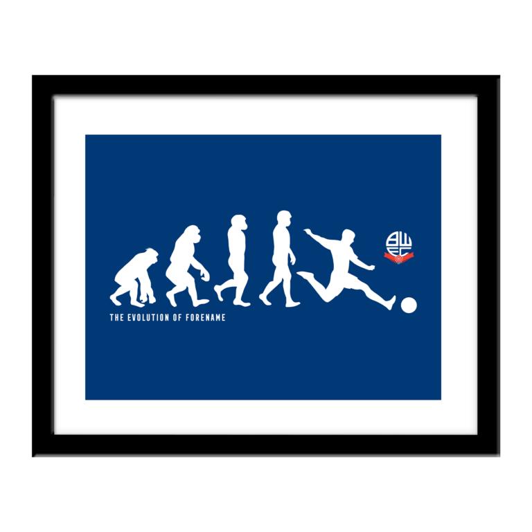 Personalised Bolton Wanderers FC Evolution Print