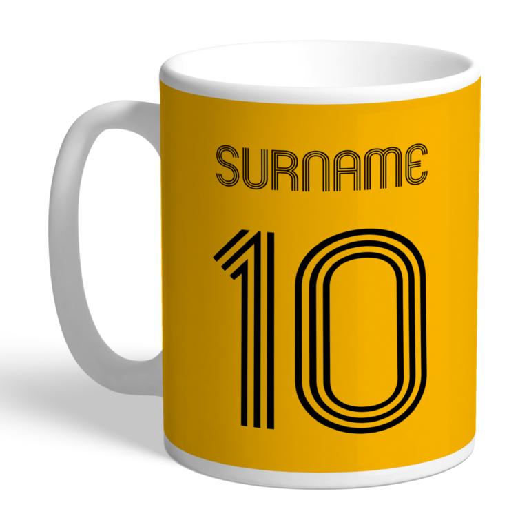 Personalised Wolverhampton Wanderers FC Retro Shirt Mug