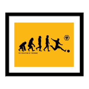 Personalised Wolverhampton Wanderers FC Evolution Print
