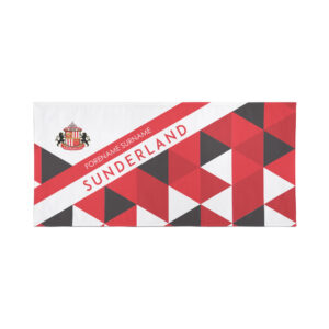 Personalised Sunderland FC Geometric Beach Towel – 80cm x 160cm