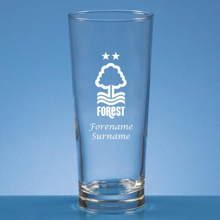 Personalised Nottingham Forest FC Beer Glass