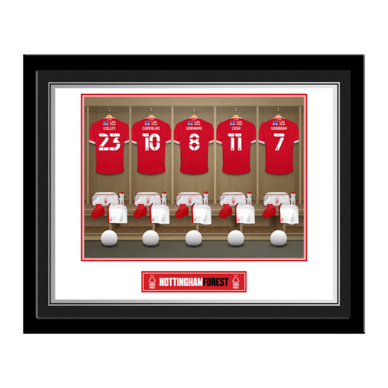 Personalised Nottingham Forest FC Dressing Room Photo Framed