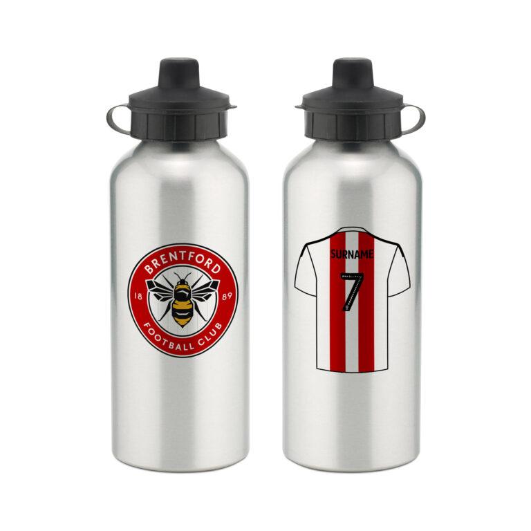 Personalised Brentford FC Aluminium Water Bottle