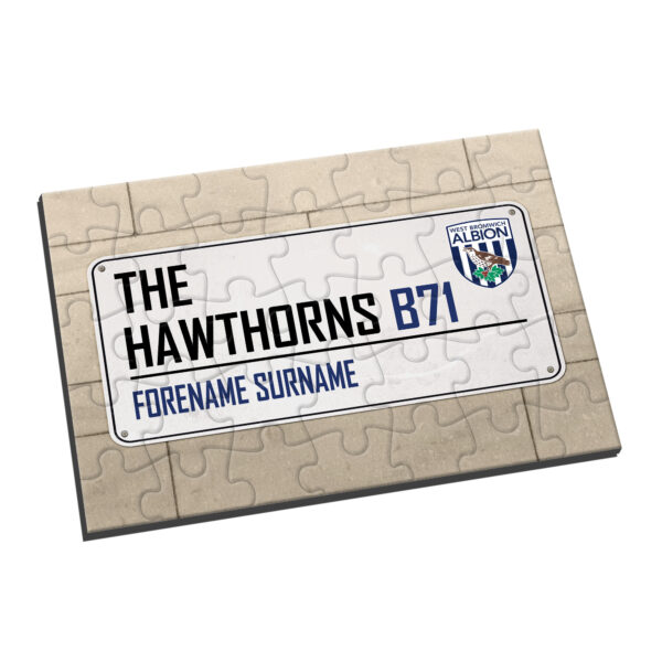 Personalised West Brom FC Street Sign Jigsaw
