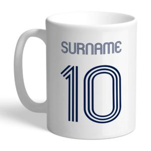 Personalised Tottenham Hotspur FC Retro Shirt Mug