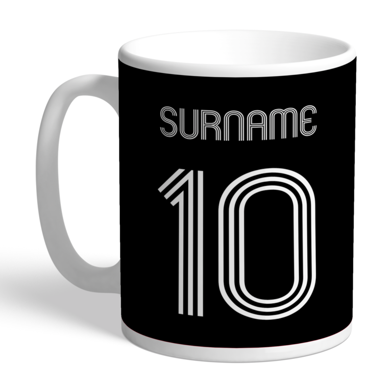 Personalised Derby County FC Retro Shirt Mug