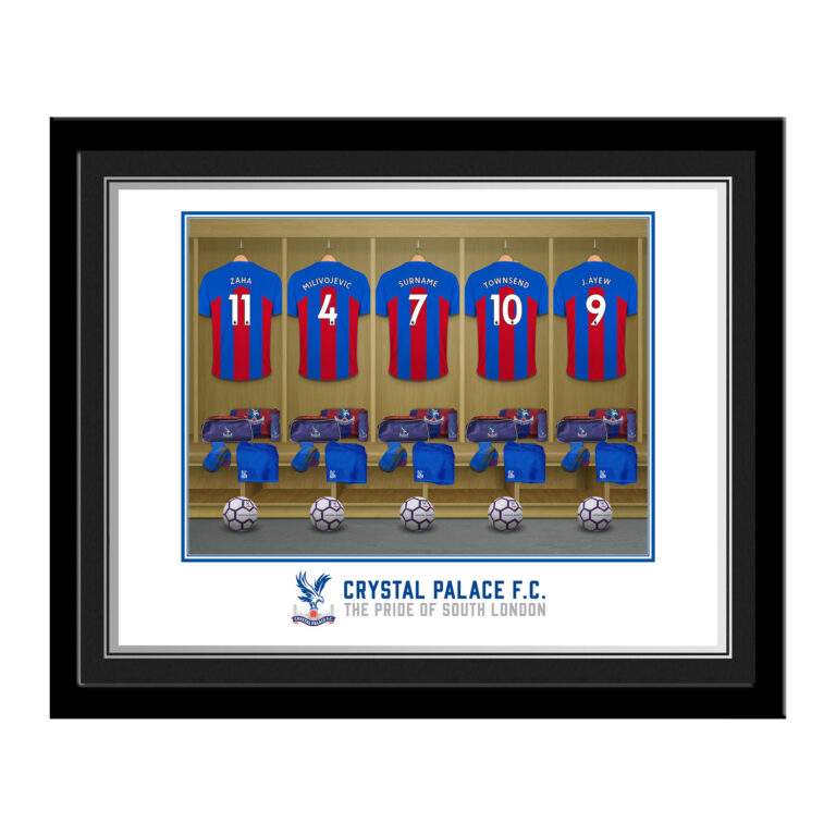 Personalised Crystal Palace FC Dressing Room Photo Framed