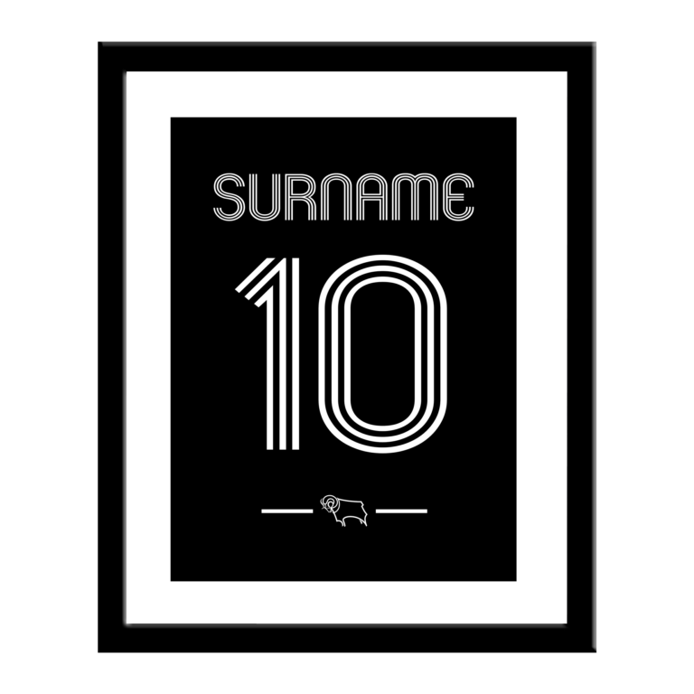 Personalised Derby County FC Retro Shirt Print