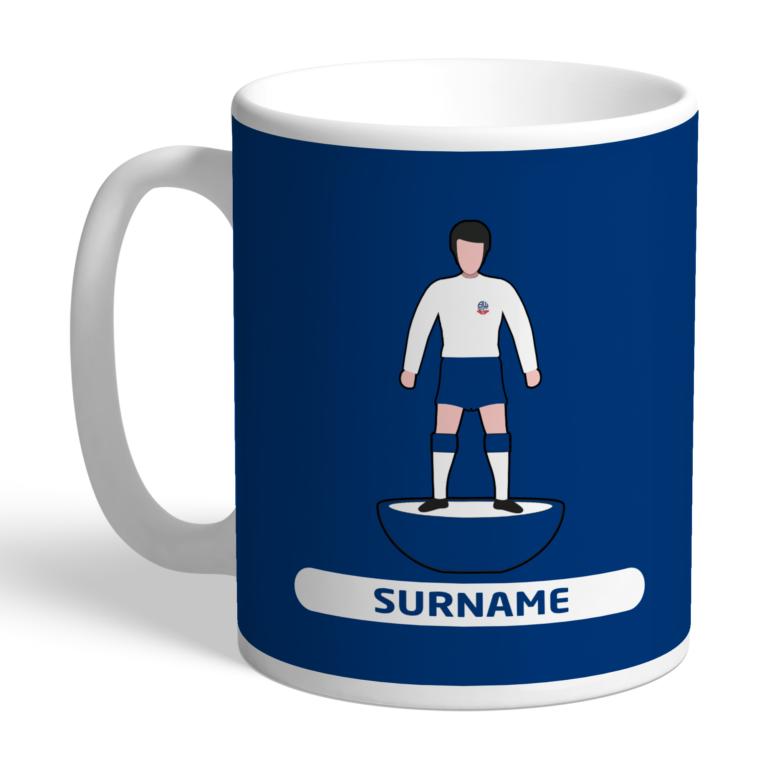 Personalised Bolton Wanderers FC Player Figure Mug