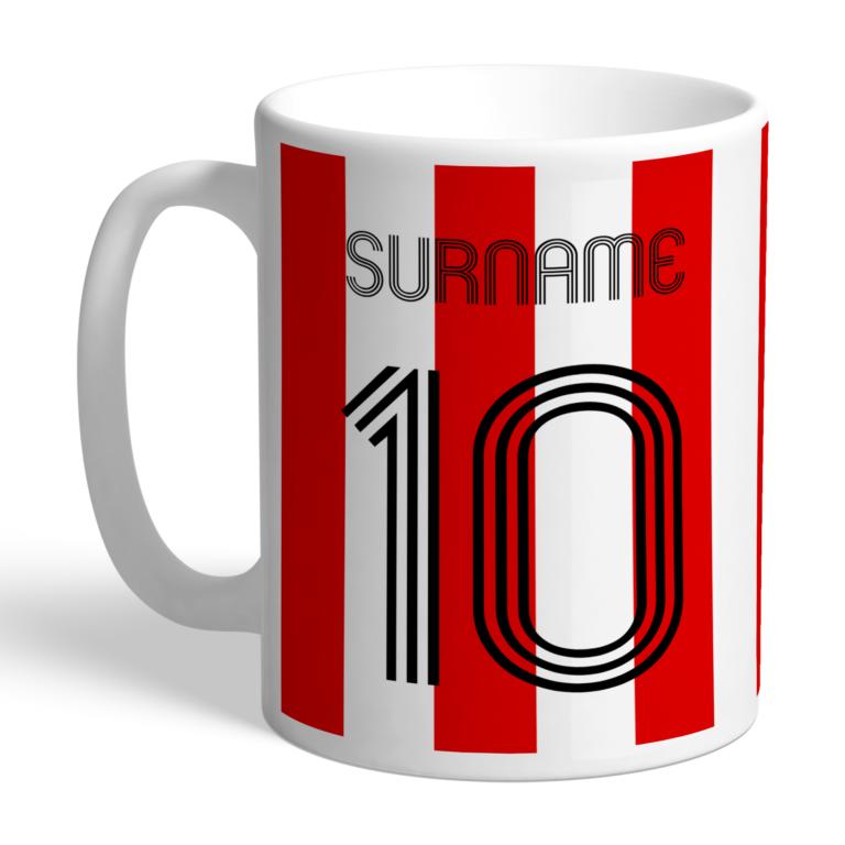 Personalised Brentford FC Retro Shirt Mug