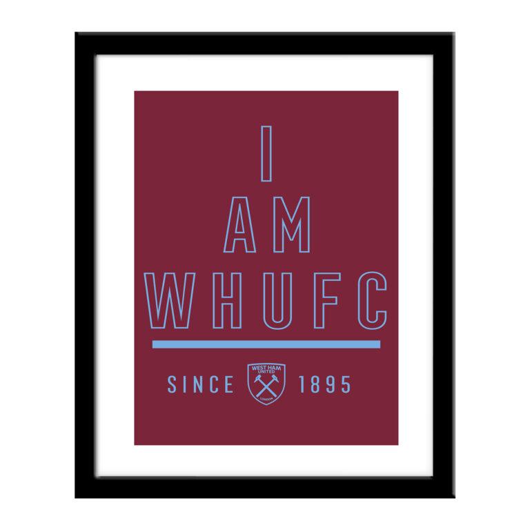 Personalised West Ham United FC I Am Print