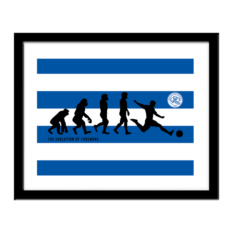 Personalised QPR FC Evolution Print