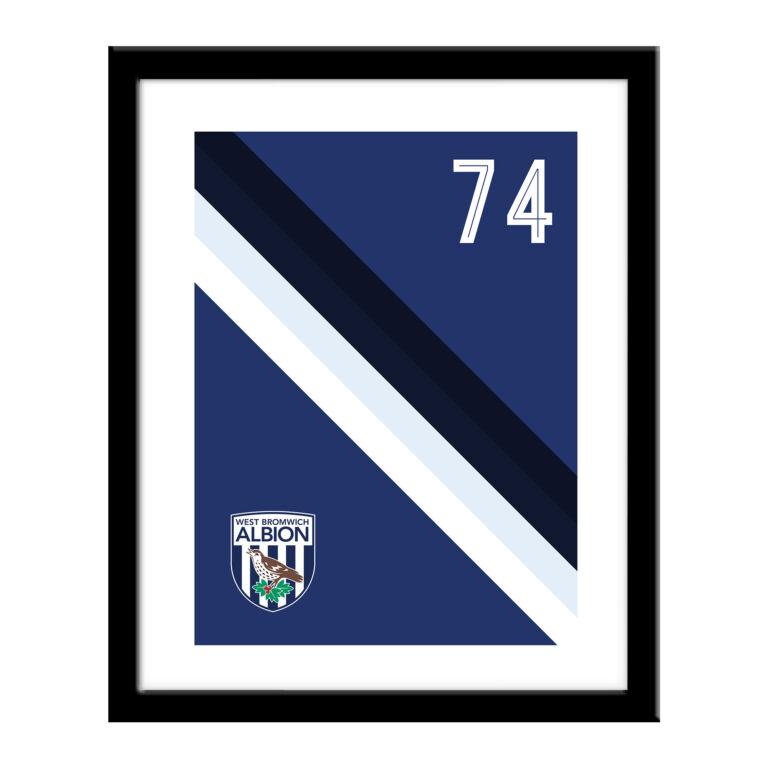 Personalised West Brom FC Stripe Print