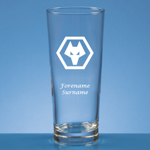 Personalised Wolverhampton Wanderers FC Beer Glass