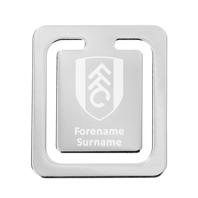 Personalised Fulham FC Crest Bookmark