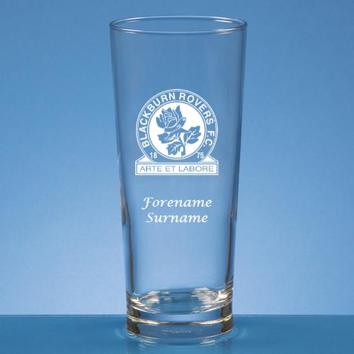 Personalised Blackburn Rovers FC Beer Glass