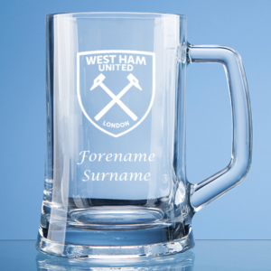 Personalised West Ham United FC Straight Sided Tankard