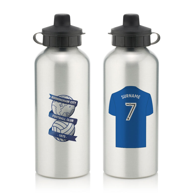 Personalised Birmingham City FC Aluminium Water Bottle