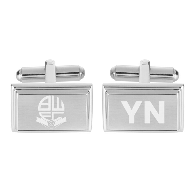 Personalised Bolton Wanderers FC Crest Cufflinks