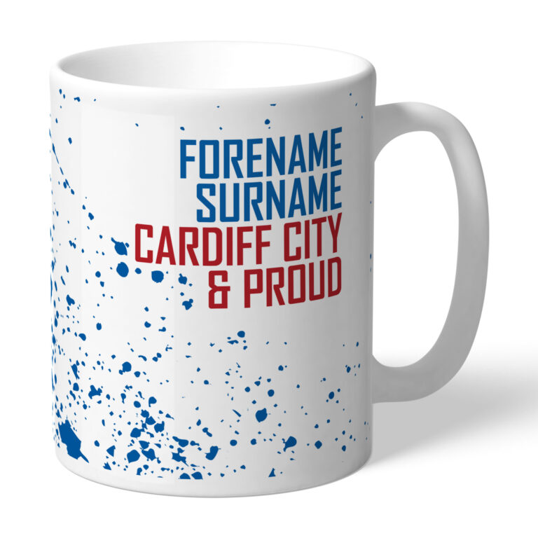 Personalised Cardiff City FC Proud Mug