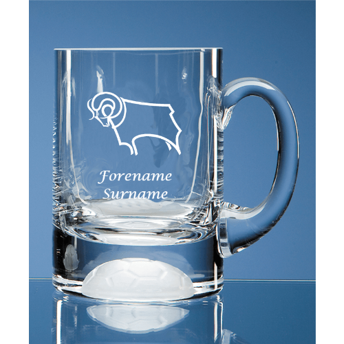 Personalised Derby County FC Ball Base Tankard