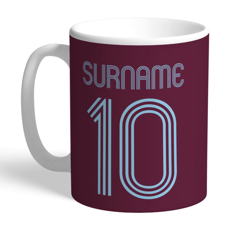 Personalised Burnley FC Retro Shirt Mug