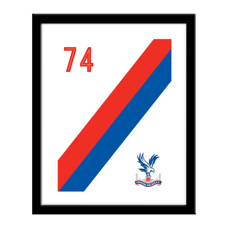 Personalised Crystal Palace FC Stripe Print