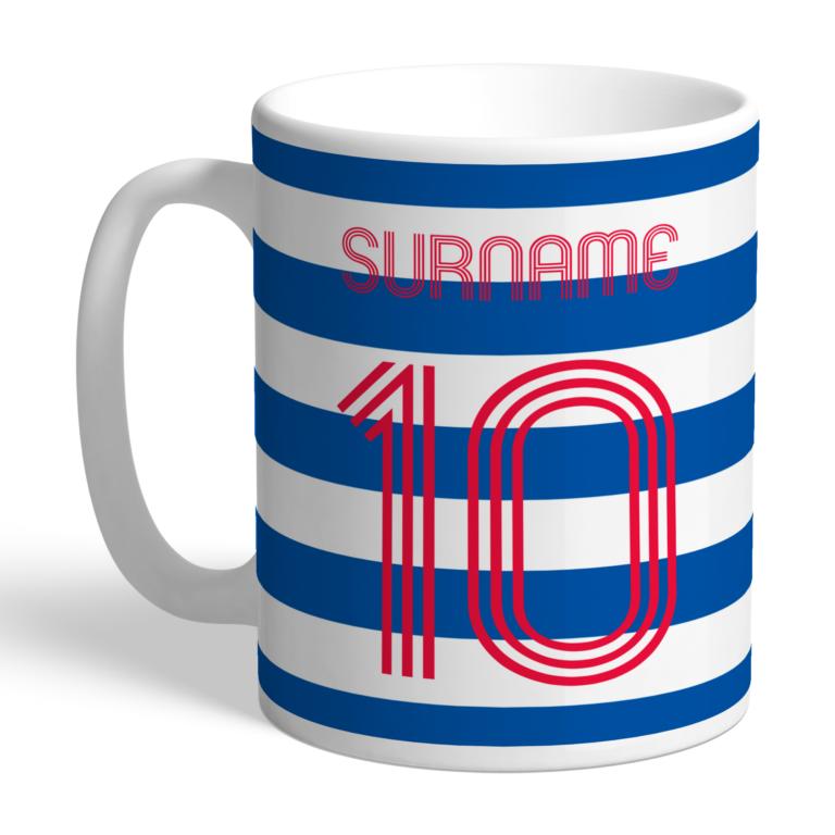 Personalised QPR FC Retro Shirt Mug