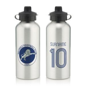 Personalised Millwall FC Retro Shirt Water Bottle