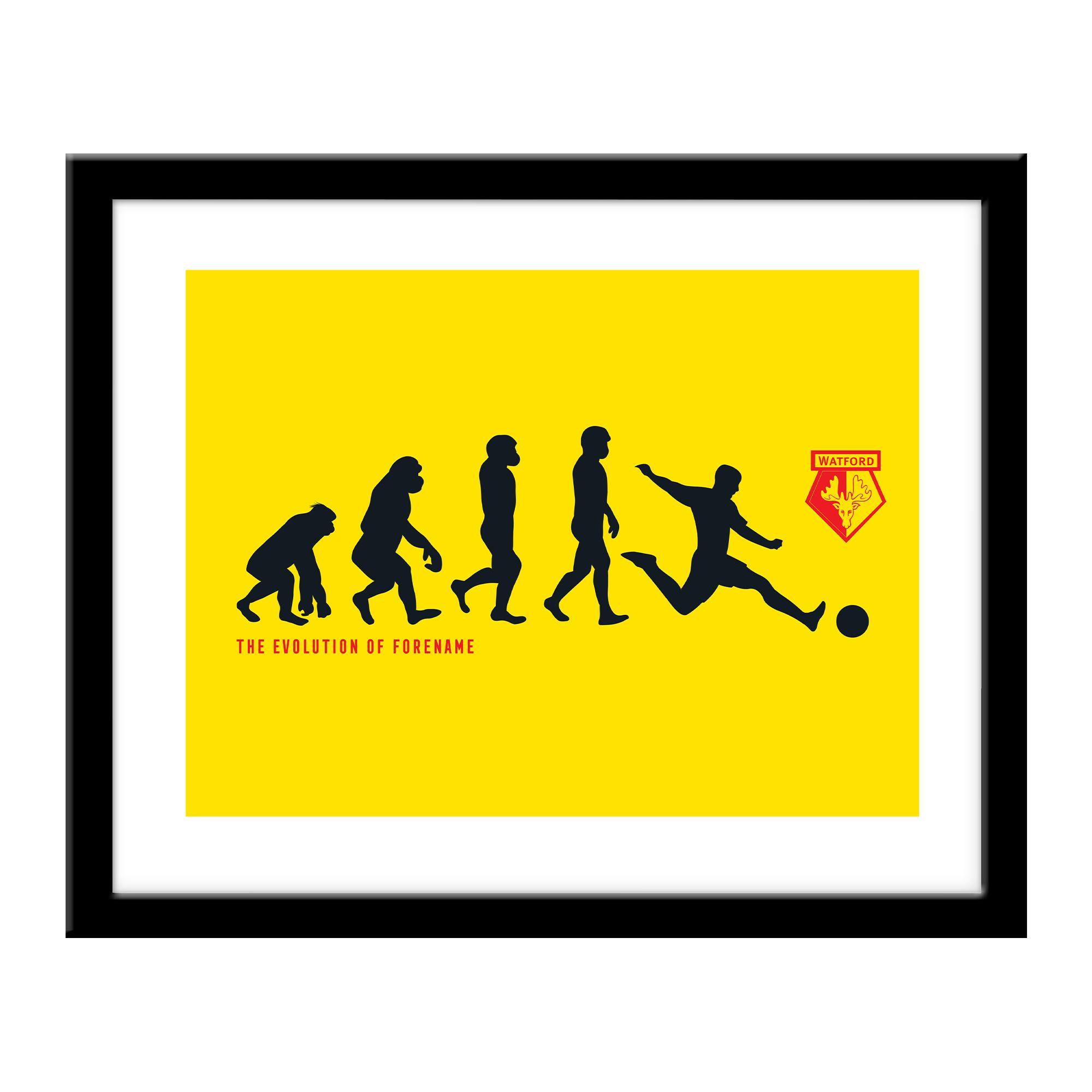 Personalised Watford FC Evolution Print