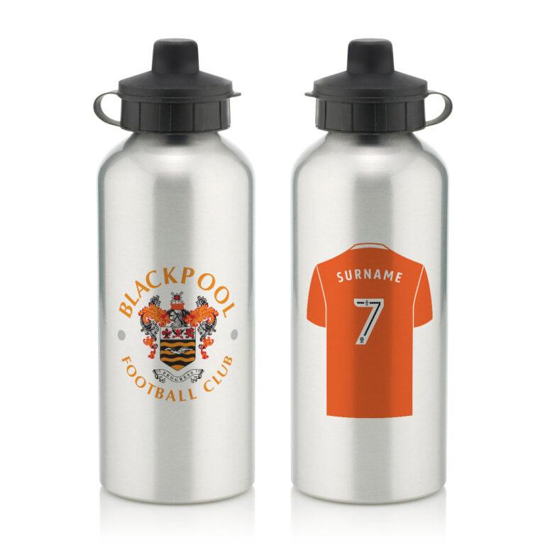 Personalised Blackpool FC Aluminium Water Bottle