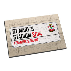 Personalised Southampton FC Street Sign Jigsaw