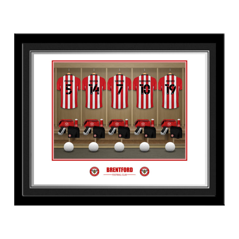 Personalised Brentford FC Dressing Room Photo Framed