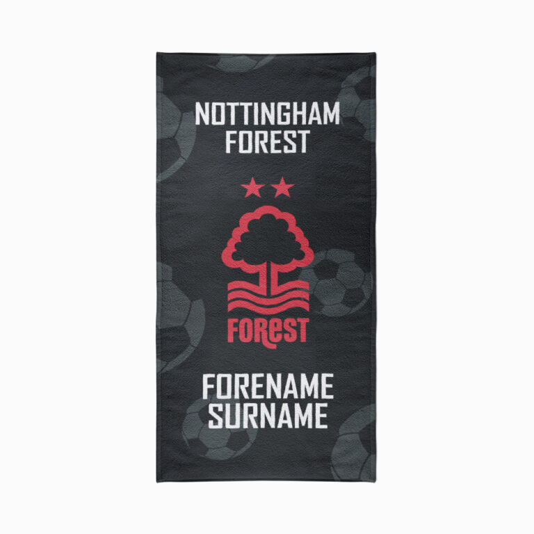 Personalised Nottingham Forest FC Crest Beach Towel – 70cm x 140cm
