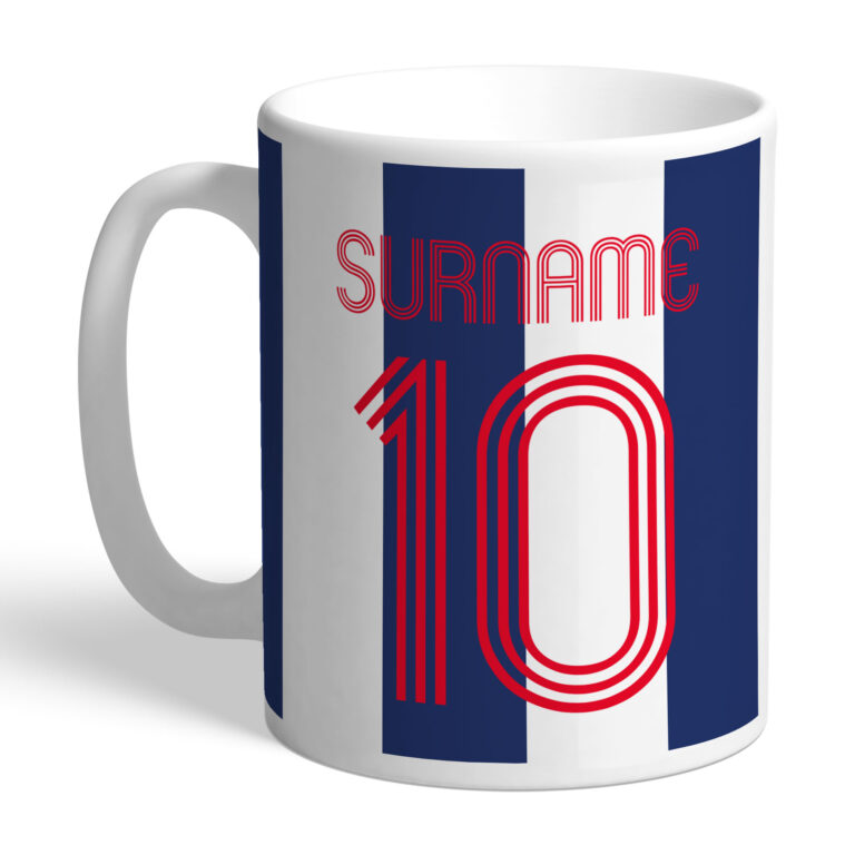 Personalised West Brom FC Retro Shirt Mug