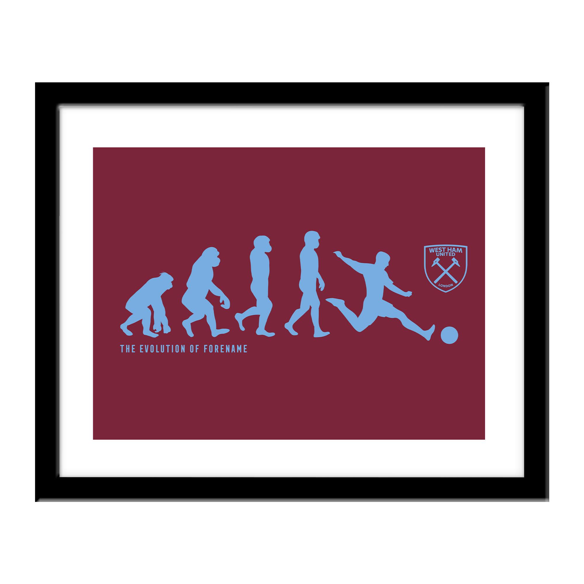 Personalised West Ham United FC Evolution Print
