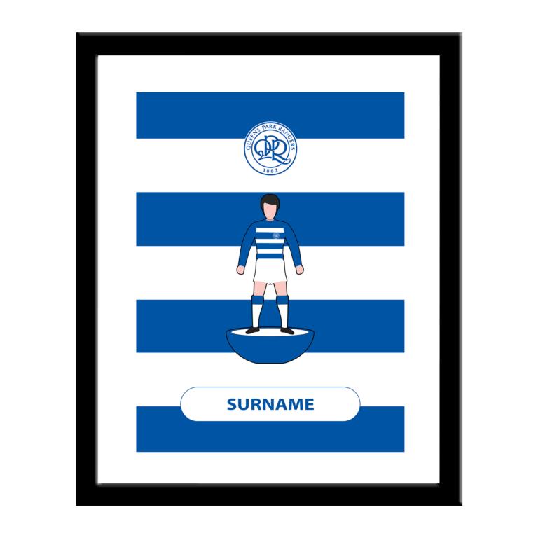 Personalised QPR FC Player Figure Print