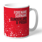 Personalised Sunderland FC Proud Mug
