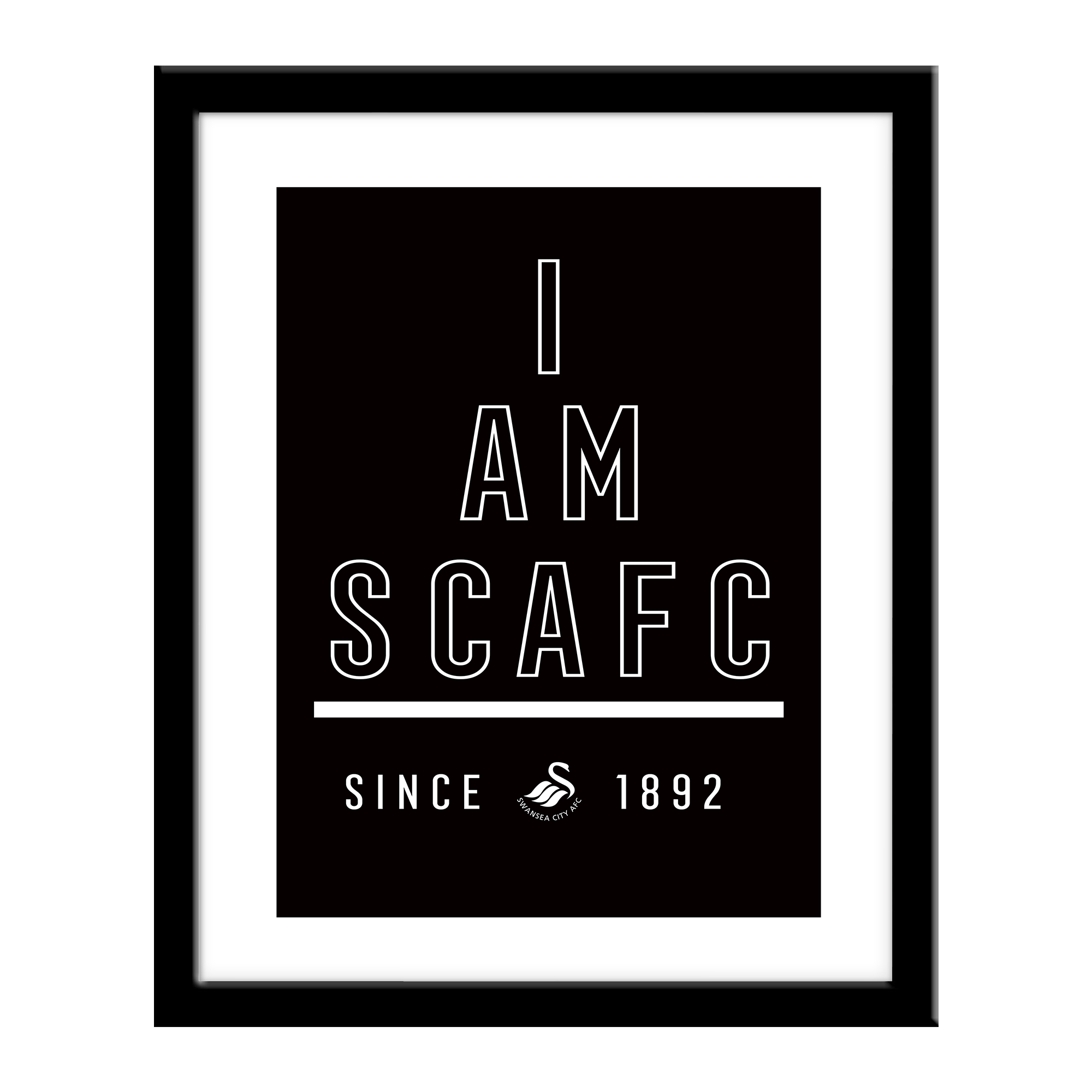 Personalised Swansea City FC I Am Print