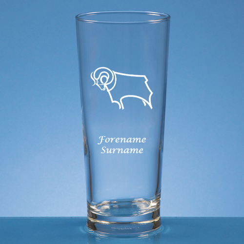 Personalised Derby County FC Beer Glass
