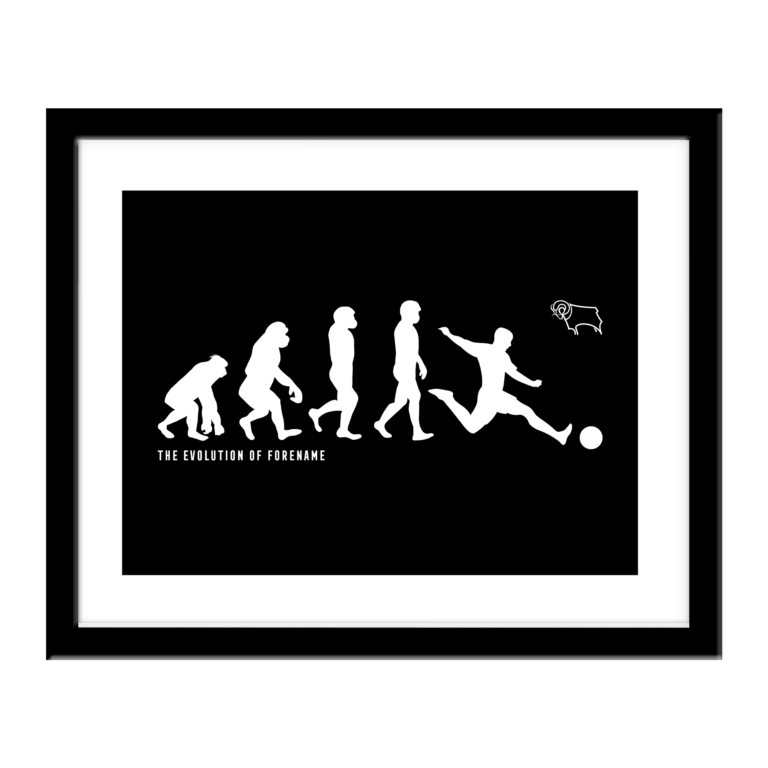 Personalised Derby County FC Evolution Print