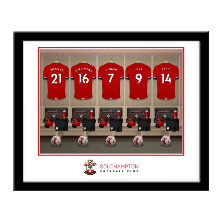 Personalised Southampton FC Dressing Room Framed Print