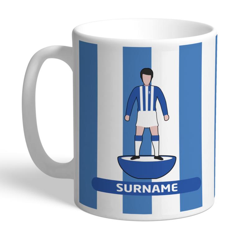 Personalised Sheffield Wednesday FC Player Figure Mug