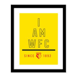 Personalised Watford FC I Am Print