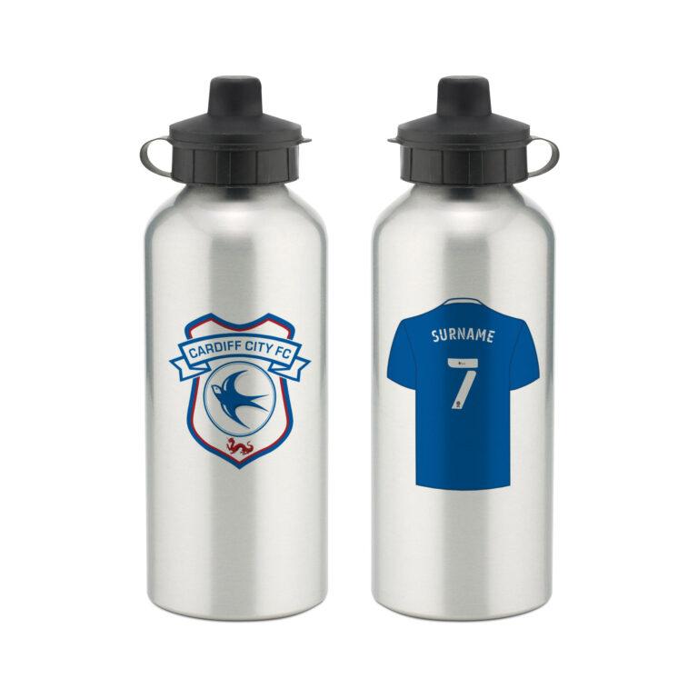 Personalised Cardiff City FC Aluminium Water Bottle