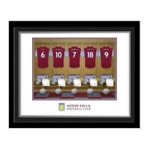 Personalised Aston Villa FC Dressing Room Framed Photo