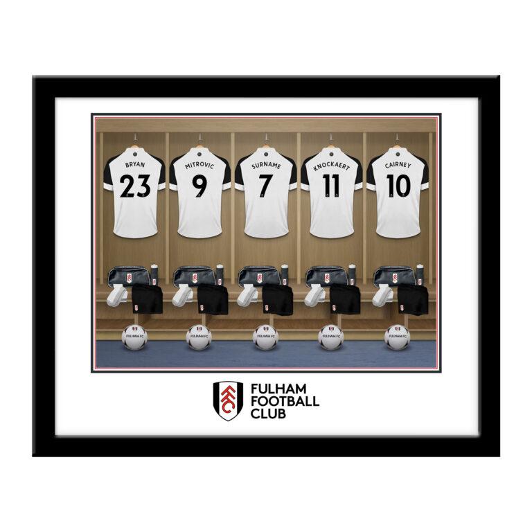 Personalised Fulham FC Dressing Room Framed Print