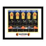 Personalised Watford FC Dressing Room Framed Print